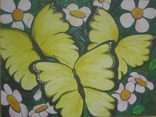 Samantha Rochard; MAriposa, 2007, Original Painting Acrylic, 48 x 36 inches. Artwork description: 241  Childlike impressions of beautiful colour. ...