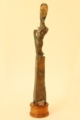 Rossen Stanoev; F 2, 1995, Original Sculpture Bronze, 8 x 45 cm. Artwork description: 241 bronze sculpture, contemporary Bulgarian sculpture, Rossen Stanoev, Bulgarian art, sculpture, ...