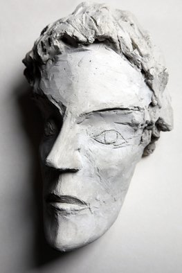 Rossen Stanoev; Head, 1984, Original Sculpture Other, 17 x 25 cm. Artwork description: 241 Egypt, mummy, Rossen Stanoev, fine art, Bulgarian art, contemporary sculptures...