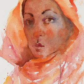Roderick Brown, Beauty in Dignity, 2014, Original Watercolor, size_width{Beauty_in_Dignity-1419840855.jpg} X 32.5 x  cm