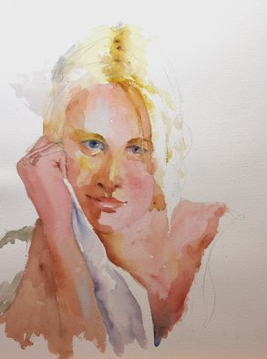 Roderick Brown, Deep in Thought, 2014, Original Watercolor,    cm