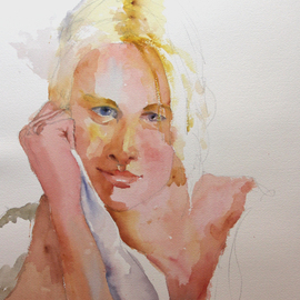 Roderick Brown, , , Original Watercolor, size_width{Deep_in_Thought-1419846074.jpg} X 41 cm