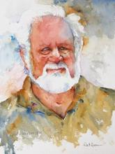 Artist: Roderick Brown's, title: Geoff Blackburn, 2012, Watercolor