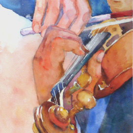 Roderick Brown, , , Original Watercolor, size_width{Hands_at_Play_1-1321018171.jpg} X 14 inches
