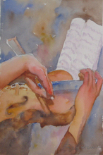 Artist: Roderick Brown's, title: Hands at Play 2, 2011, Watercolor