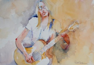 Roderick Brown, Me and My Guitar, 2011, Original Watercolor,    inches