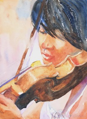 Roderick Brown, Strings in Play, 2011, Original Watercolor,    inches