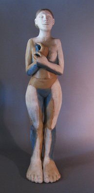 Mavis Mcclure; Standing Figure , 2013, Original Ceramics Handbuilt, 72 x 16 inches. Artwork description: 241  inquire about other available works and custom commissions. ...
