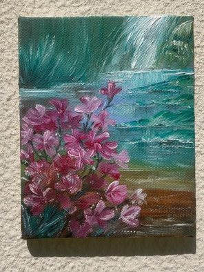 Dalia Aql; Hyacinthic, 2019, Original Painting Oil, 11 x 14 cm. Artwork description: 241 The majestic Hyacinth flower that represents tranquility and relaxation. ...