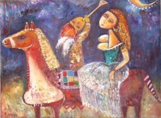 Romaya Puchman; Song In The Way, 2008, Original Painting Oil, 80 x 60 cm. Artwork description: 241  contemporary art ...