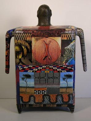 Ron Allen; Africa  Back View, 2009, Original Sculpture Mixed, 10 x 18 inches.
