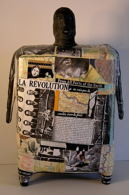 Ron Allen; La Revolution, 2007, Original Sculpture Mixed, 8 x 14 inches. Artwork description: 241  cement over steel armature, collaged pictures, varnish sealed ...