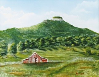 Ronald Lunn; Farmers View Of Pilot Mountain, 2016, Original Painting Oil, 20 x 16 inches. Artwork description: 241 Not a common scene and I thought of painting and sharing it with the public. ...