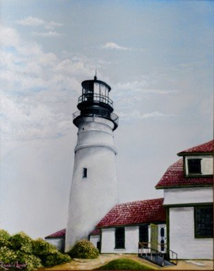 Ronald Lunn; Portland Head Lighthouse, 2018, Original Painting Oil, 20 x 16 inches.