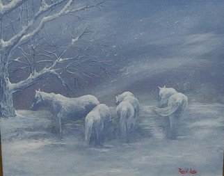 Ronald Lunn; Spirits Of The Storm, 2016, Original Painting Oil, 20 x 16 inches. Artwork description: 241 For the love of horses...