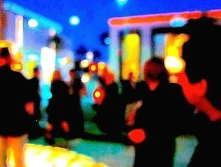 Ronnie Caplan; Los Angeles At Night, 2019, Original Photography Color, 12 x 9 inches. Artwork description: 241 Abstract, night, los angeles, crowd, hoi poloi, partying, lights...