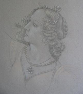 Ronald Weisberg, 'Botticelli Drawing', 2003, original Drawing Pencil, 13 x 16  inches.