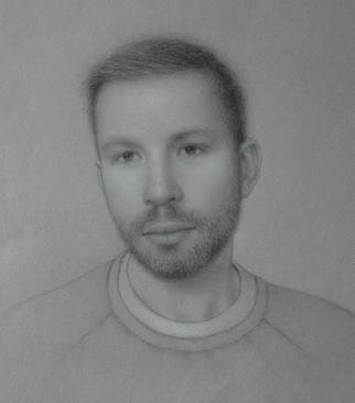 Ronald Weisberg, 'Young Man', 2013, original Drawing Pencil, 12 x 12  x 1 inches. Artwork description: 1911   Portrait drawing  ...