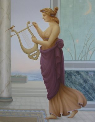Ronald Weisberg, ' A Lyre', 2001, original Painting Oil, 22 x 28  x 1 inches.