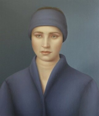 Ronald Weisberg; Blue Wrap, 2003, Original Painting Oil, 15 x 18 inches.
