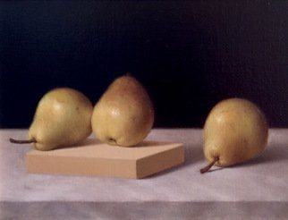 Ronald Weisberg; Pears 1, 2017, Original Painting Oil, 12 x 9 inches.