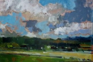 Jerry Ross; Amazon Park Veduta, 2016, Original Painting Oil, 36 x 24 inches. Artwork description: 241 This is a landscape of a large park area in Eugene, Oregon. It is an excellent example of the use of