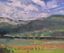 Artist: Jerry Ross', title: Coburg Hills Abstract Lands..., 2012, Painting Oil