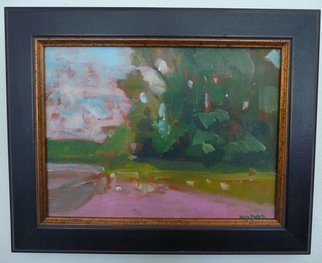 Jerry Ross; Color Macchia of Trees, 2012, Original Painting Oil, 12 x 9 inches. Artwork description: 241  Color macchia notan of trees. ...