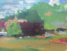 Artist: Jerry Ross', title: Drain vista near park, 2015, Painting Oil