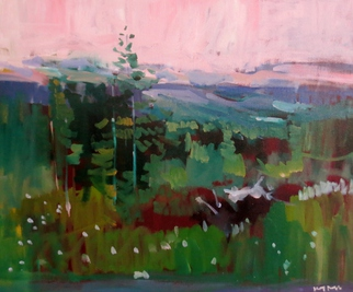 Jerry Ross, Mount Baldy Abstract, 2015, Original Painting Oil, size_width{Oregon_Forest_Veduta-1455655443.jpg} X 20 inches