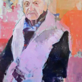 Jerry Ross, , , Original Painting Oil, size_width{Portrait_of_Fiorella-1487735784.jpg} X 30 inches