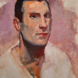 Jerry Ross, , , Original Painting Oil, size_width{Portrait_of_Italian_Soccer_Player-1487735887.jpg} X 20 inches