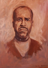 Artist: Jerry Ross', title: Portrait of Martin Sostre, 2002, Painting Oil