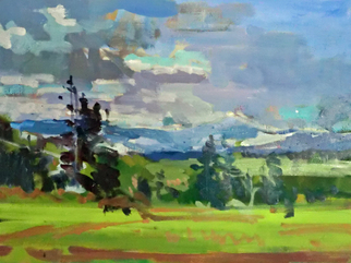 Jerry Ross, Ridgetop View, 2012, Original Painting Oil, size_width{Ridgetop_View-1466957505.jpg} X 12 x  inches
