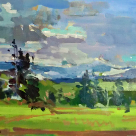 Jerry Ross, , , Original Painting Oil, size_width{Ridgetop_View-1477762221.jpg} X 12 inches