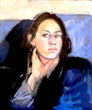 Jerry Ross; The Girl on the Train, 2010, Original Painting Oil, 20 x 24 inches. Artwork description: 241  We met on the train to Milan. ...