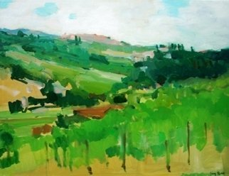 Jerry Ross; Umbrian Countryside Veduta, 2009, Original Painting Oil, 20 x 16 inches. Artwork description: 241  Lush countryside of Umbria ...