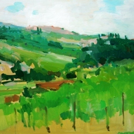 Jerry Ross, , , Original Painting Oil, size_width{Umbrian_Countryside_Veduta-1487735962.jpg} X 16 inches