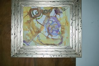 Reiner Poser; Abstract In Siver Frame, 2011, Original Painting Other, 79 x 89 cm. Artwork description: 241  Abstract composition, watercolour on canvas in siver frame, very well looking in combination ! ...
