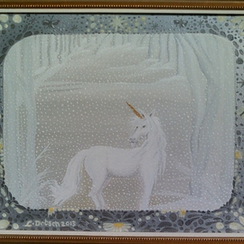 Cathy Dobson, , , Original Painting Oil, size_width{Magic_Unicorn-1432915837.jpg} X 16 inches