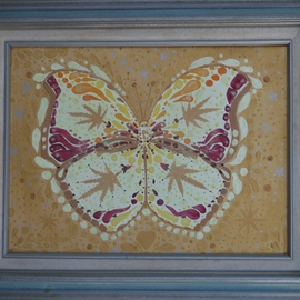 Cathy Dobson, , , Original Painting Oil, size_width{Psychedelic_Butterfly-1434128661.jpg} X 12 inches