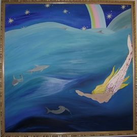 Cathy Dobson, , , Original Painting Oil, size_width{Rainbow_2-1432907684.jpg} X 48 inches