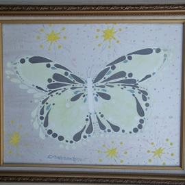 Cathy Dobson, , , Original Painting Oil, size_width{White_Butterfly-1433511701.jpg} X 16 inches
