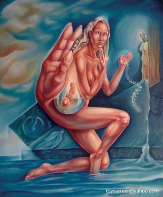 Roy Villalobos; Blind Ego, 2005, Original Painting Oil, 20 x 24 inches. Artwork description: 241  Reflecting prostitution as an spiritual experience. ...