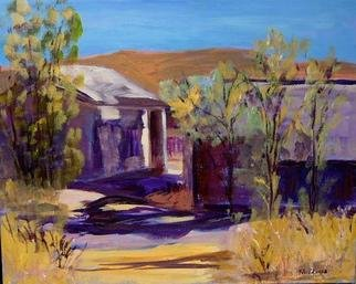 Roz Zinns, 'Back Street Peach Springs AZ', 2003, original Painting Acrylic, 20 x 16  x 1 inches. Artwork description: 3495 Unoccupied buildings on Rte. 66 in Arizona...