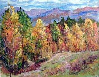 Roz Zinns, 'Early Autumn 2', 2004, original Painting Acrylic, 20 x 16  x 1 inches. Artwork description: 3495 The beauty of Colorado in October....