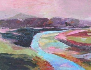 Roz Zinns, 'Eternal River', 2009, original Painting Acrylic, 18 x 14  inches. Artwork description: 2307  The river moves on. ...