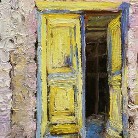 Roz Zinns, , , Original Painting Oil, size_width{Greek_Doorway-1312082519.jpg} X 18 inches