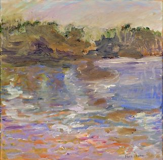 Roz Zinns; Greek Inlet, 2010, Original Painting Oil, 12 x 12 inches. Artwork description: 241  One of thousands of inlets along Greek coast ...