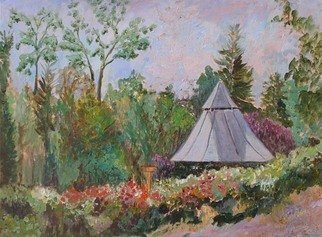 Roz Zinns, 'Heather Farms 2', 2009, original Painting Acrylic, 24 x 18  x 2 inches. Artwork description: 2307  The Rose Garden at Heather Farms ...
